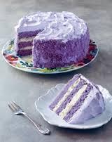 Ube makapuno cake